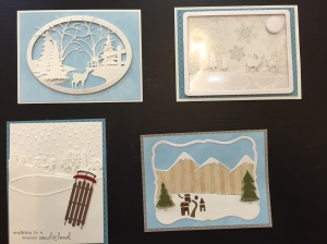 Winter Scene Cards