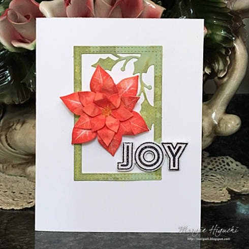 500WM Margie Higuchi JOY Poinsettia Card CraftFancy Holiday 2018 MnT AUG18